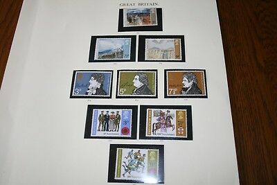 1971 GB MNH Stamps 5 sets Paintings,Anniversaries x 2;Architecture & Christmas