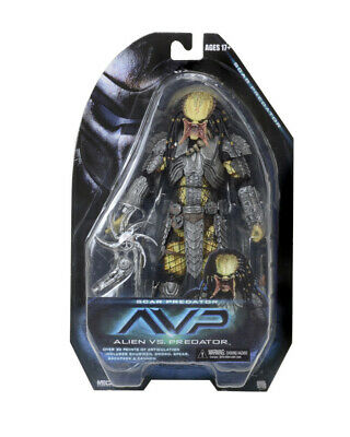 "NECA Scar Predator AVP Alien vs Predators Movie Series 14 7"" Action Figure New"