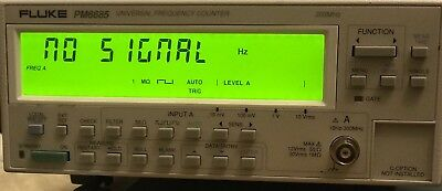 FLUKE PHILIPS PM6685, 300 MHz Universal Frequency Counter Incl. Option PM9691