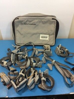 Lot of 11 - Agilent HP Keysight Cables Pods 1-2, 3-4, Pouch -JH