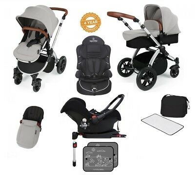 Ickle Bubba Stomp V3 Isofix Travel System 2nd Stage Car Seat Silver On