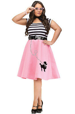 Brand New Grease Poodle 50's Dress Plus Size Halloween Costume