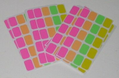 "520 Garage Yard Sale Rummage Stickers Price Label Neon 1/2""x3/4"" Cmy Other Items"