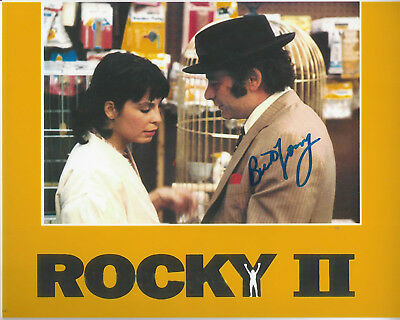 Rocky II Movie Burt Young  autographed 8x10 color  photo bonus pic from signing