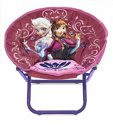 Disney Frozen Round Circle Saucer Chair Foldable Frame Lounging & Relaxing