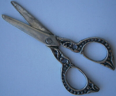 Scissors STERLING SILVER 800 Jewelry MARK hand-operated shearing tools EUROPE
