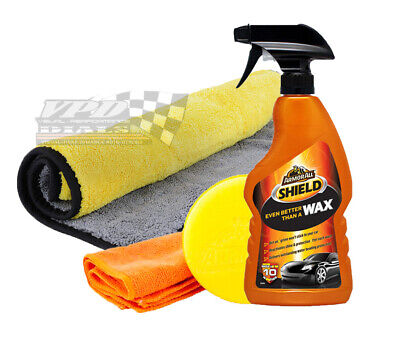 Armor All car wax all shield liquid polishing pad and large cleaning cloth