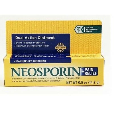 Neosporin Plus Pain Relief Maximum Strength First Aid Antibiotic Ointment 0.5 oz