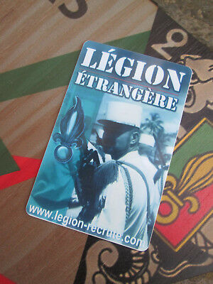 French Foreign Legion Etrangere-legionnaire code of honor card edition 2018
