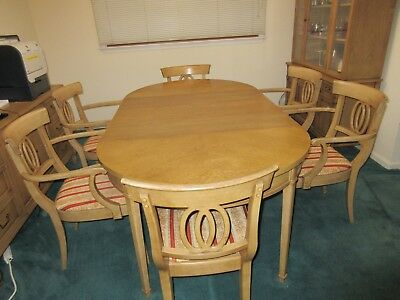 Drexel MID CENTURYdining room set, Oval table, 6 chairs, china cabinet & buffet,