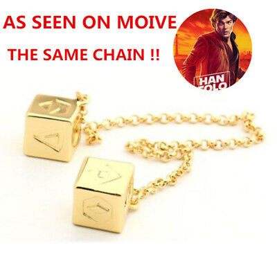 Han SOLO Dice Star Wars Story Lucky Gold Dice AMC Millennium Falcon Cosplay