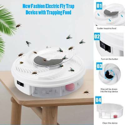 Special Offer Electric Fly Trap Device with Trapping Food -WHITE USB CABLE UK