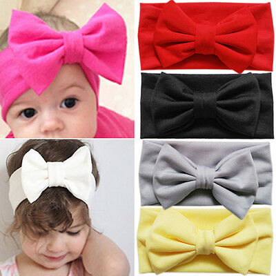 FM- Cute Toddler Bow Headband Hair Band Accessories Headwear For Baby Kids Girl