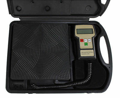 220 lbs Accurate Refrigerant Electronic Charging Weight Scale for HVAC with Case