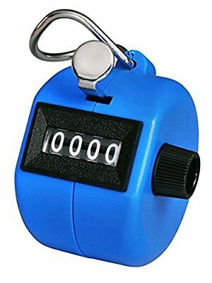 Bluecell Blue Color Handheld Tally Counter 4 Digit Display - NEW