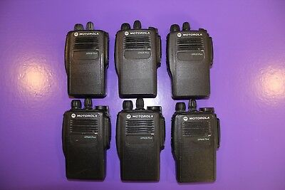 6x Motorola GP628Plus UHF 450-527MHz_Rated IP67*Dust-Tight & Water Submersible!