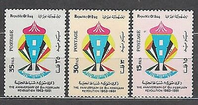 Iraq - Mail Yvert 985/7 Mnh Revolution of february