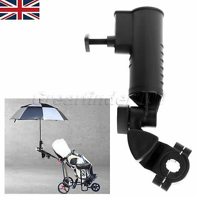 Sporting Golf Umbrella Holder Stand Tool Adjustable for Buggy Golf Cart 1PK