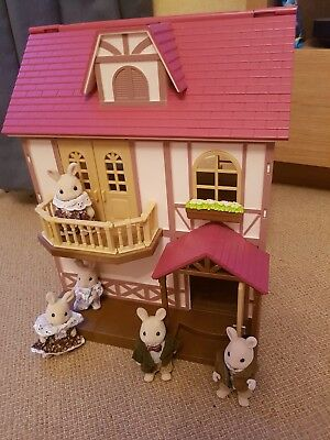 sylvanian families House/ Cottage, Furniture And Rabbit family