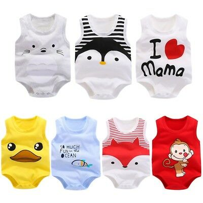 Cute Cotton Newborn Kids Baby Girl Boy Bodysuit Romper Jumpsuit Clothes Outfits