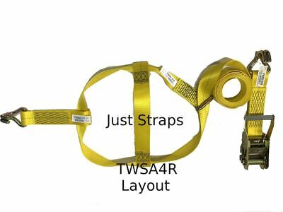 Just Straps Car Transport Tow Dolly Strap 4 metre c/w Ratchet