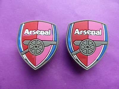 2 Arsenal Badges Logos jibbitz crocs shoe charms loom wrist bands cake toppers