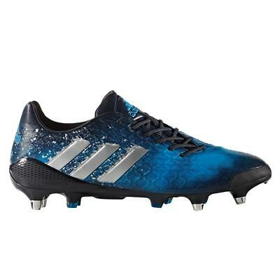 best service a997c 04398 adidas Mens Predator Malice SG Rugby Shoes Football Boots Blue Lace Up