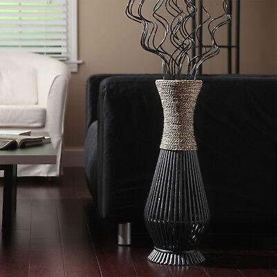Floor Vase Tall Bamboo Seagrass Large Wood Elegant Natural Home