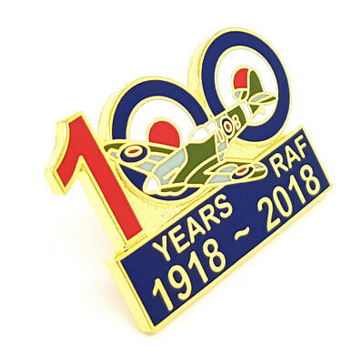 Royal Air Force 100 years Centenar Lapel Pin Badge RAF Aerial warfare spitfire