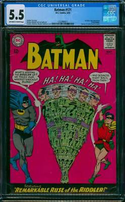 Batman # 171  !st Silver Age appearance of the Riddler !  CGC 5.5 scarce book !