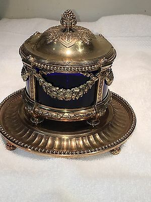 Odiot French Sterling Silver Condiment Server Exquisite 992 Grams