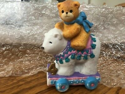 Enesco Lucy and Me Riggs Bear Three Year Old Third Birthday Collectible