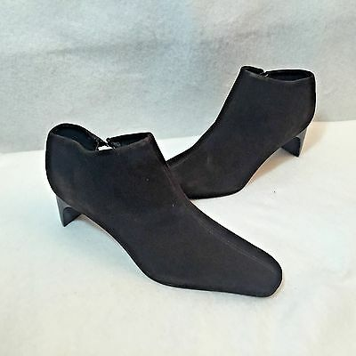 833410ee3c0 Lord   Taylor Trixie Side Zip Booties Ankle Shoes Brown Suede Womens Size  ...