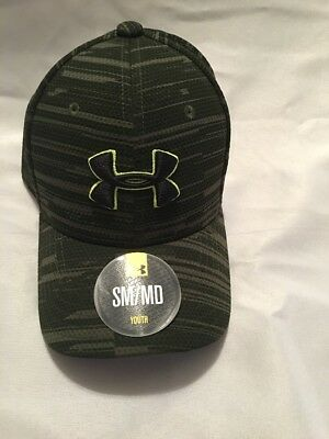 Under Armour Boys Girls Youth Stretch Fitted Heat Gear Hat- SM/MD- New Kids Hat