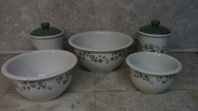JAY CORELLE CORNING Ware Callaway Ivy Canister Mixing Bowls You ...