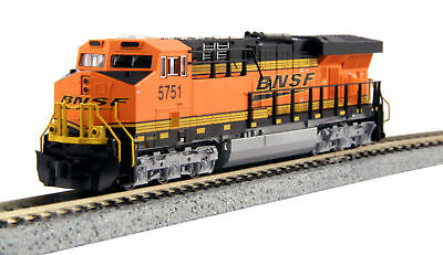 "Kato 17689241 N BNSF ""Swoosh"" GE ES44AC ""Gevo"" #5751 with DCC Installed"