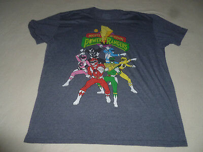 dbabaff08 Sabans Mighty Morphin Power Rangers Shirt Size Xxl Mens Charcoal Grey  Graphic >