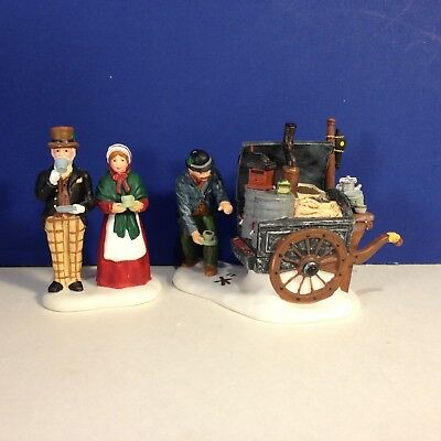 Dept 56 Dickens Village THE COFFEE STALL Set of 2 w/ box Combine Shipping!