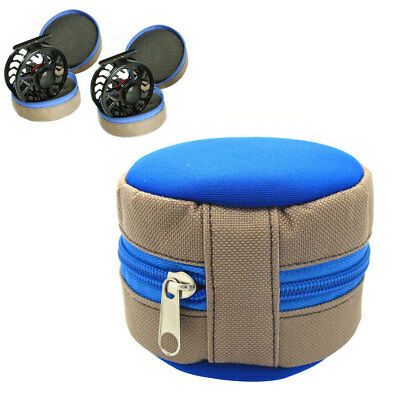 FM- Fly Fishing Reel Case Carry Pocket Cover Storage Bag Pouch Holder Tools Exot