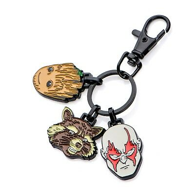 Marvel Guardians of the Galaxy Groot, Rocket,and Drax Keychain