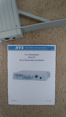 RTS Telex RM-325 Intercom 2-Channel User Station - w/ 5 pin TELEX PH-88 Headset