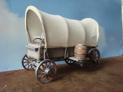"Vintage 8-1/2"" Wood Covered Wagon"
