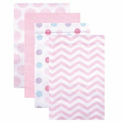 Luvable Friends Flannel Receiving Blankets Pink Dots 4 Count