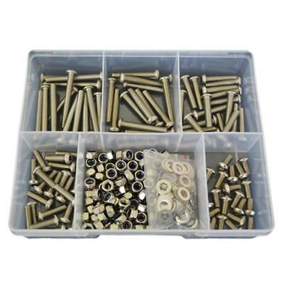 G304 Stainless M6 (6mm) Button Socket Screw Assortment Kit Bolt Nut Washer #206
