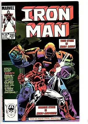 Iron Man #200 7.0-1st Appear. of Iron Monger-Bob Layton Cover-STRICTLY GRADED