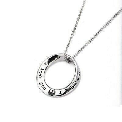 Star Wars I Love You I Know Mobius Pendant Necklace
