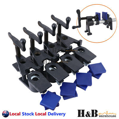 "4 Pcs Heavy Duty 3/4"" H Style Gluing Pipe Clamp Woodworking Tools Clamp Pads"