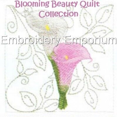 Blooming Beauty Quilt Collection - Machine Embroidery Designs On Cd