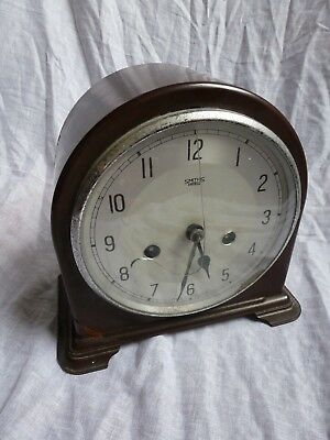 Bakelite mantel clock ( for parts ) Smiths movement. SPARES / REPAIRS