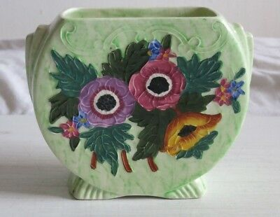 Maling Vase Small Anemone Embossed 6533. In very good condition.One imperfection